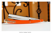 Dubl Duck - Goldedge - Pearlduck - 5/8 - Full Hollow w/G10 Hunter Orange - Shave Ready