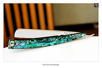 Dubl Duck - Wonderedge - Pearlduck - 39/64 - 1/4 Hollow w/Green Abalone LVS - Shave Ready