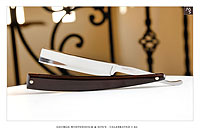 George Wostenholm & Son's - Celebrated I-XL -  Sheffield</br>5/8 - 3/4 Hollow - Burgundy paper micarta - Shave Ready