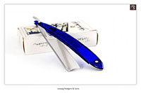 Joseph Rodgers & Sons - Cutlers to their majesties - N°6 Norfolk Sheffield - 6/8 : 3/8 Hollow : Sapphire Blue - shave ready